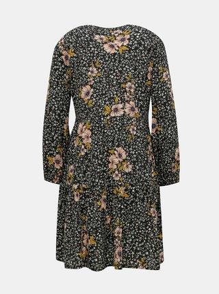 Čierne kvetované šaty ONLY Thea