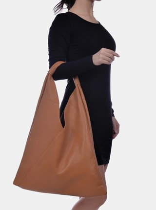 Hnědá kožená kabelka Anna Luchini