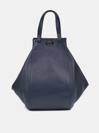 Tmavě modrá kožená kabelka Roberta M