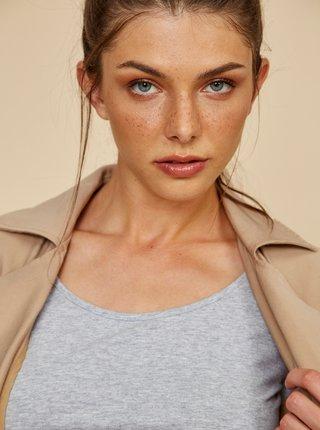Světle šedé dámské basic tričko ZOOT Baseline Theresa