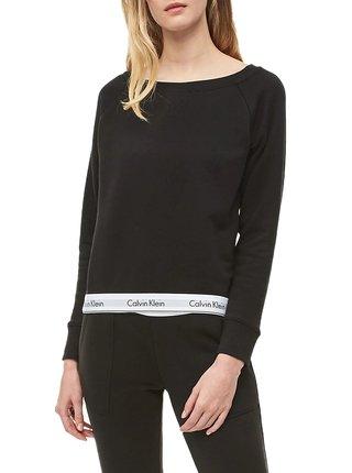 Calvin Klein čierna dámska mikina Top Sweatshirt