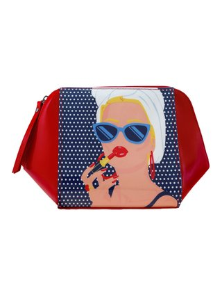 Santoro červené kozmetická taška First Class Lounge Lady Red