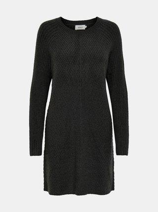 Tmavošedé svetrové šaty ONLY Carol