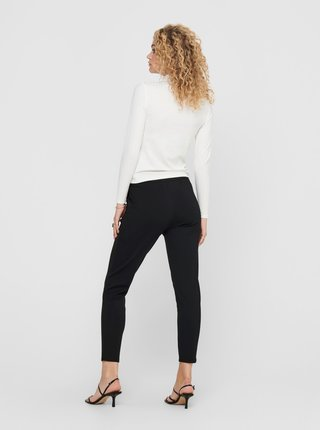 Čierne skrátené nohavice Jacqueline de Yong Pretty