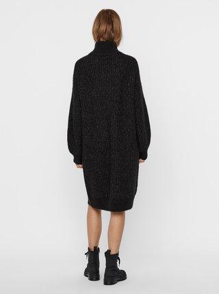 Tmavošedé svetrové šaty s rolákom Noisy May Robina