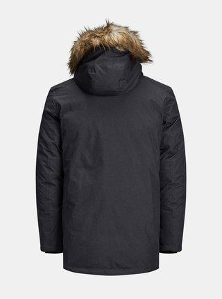 Tmavošedá zimná bunda Jack & Jones Sky