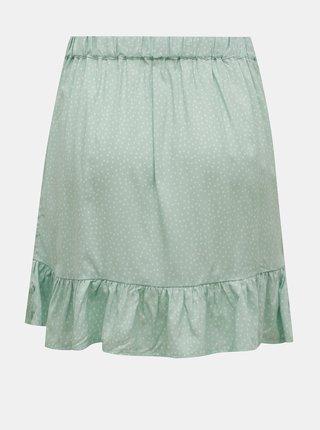 Světle zelená vzorovaná sukně s volánem TALLY WEiJL