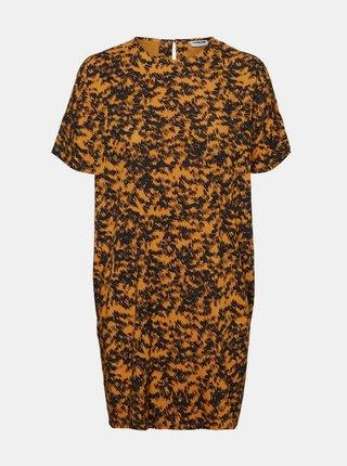 Oranžové vzorované voľné šaty Noisy May Cille