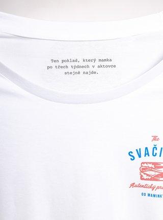 Biele pánske tričko ZOOT Original Svačina od maminky