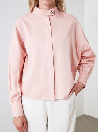 Ružová voľná košeľa Trendyol