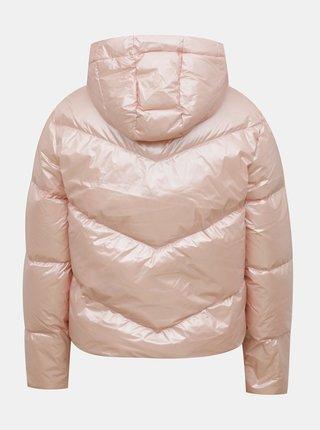 Růžová dámská prošívaná zimní bunda Puma Classics Shine Down