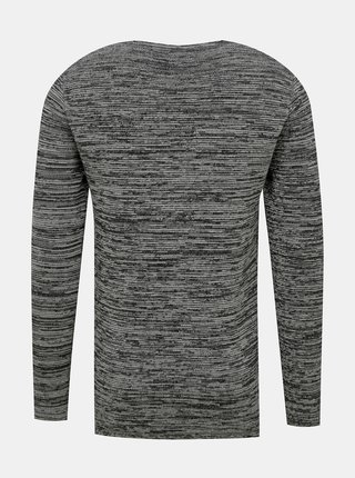 Šedý pánsky žíhaný sveter Redefined Rebel