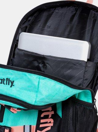 Čierno-tyrkysový batoh Meatfly Basejumper
