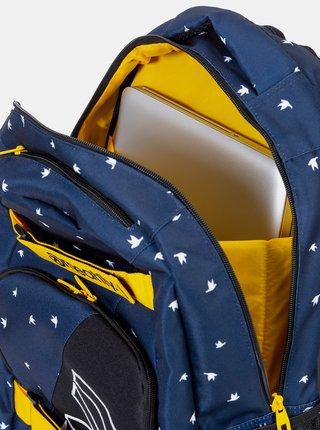 Tmavomodrý vzorovaný batoh Meatfly Exile
