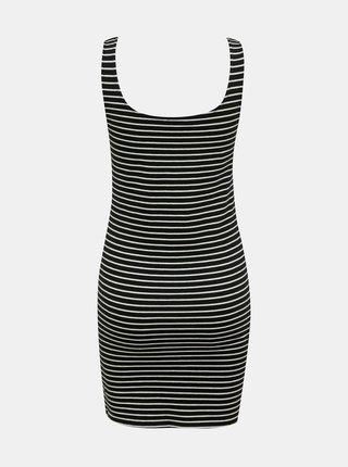 Černé pruhované šaty s potiskem TALLY WEiJL