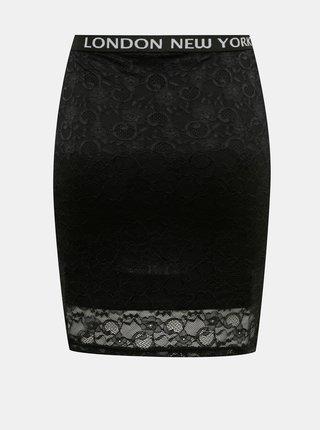 Černá pouzdrová sukně s krajkou TALLY WEiJL