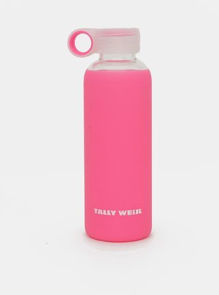 Ružová sklenená fľaša TALLY WEiJL