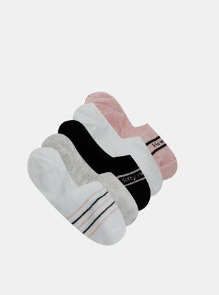Sada piatich párov šedých nízkych ponožiek TALLY WEiJL