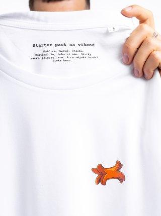 Biele pánske tričko ZOOT Original Buřtík