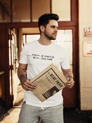 Biele pánske tričko ZOOT Original Kmnismus