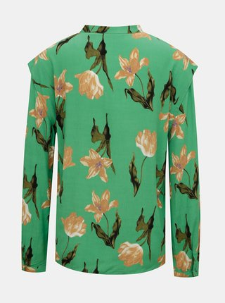 Zelená květovaná halenka VERO MODA Betty