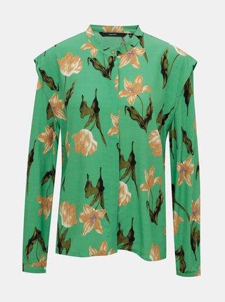 Zelená kvetovaná blúzka VERO MODA Betty
