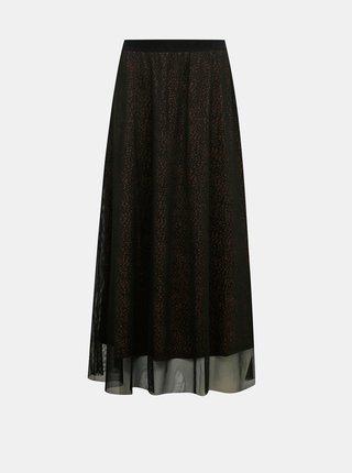 Černá vzorovaná maxi sukně Jacqueline de Yong Dixie