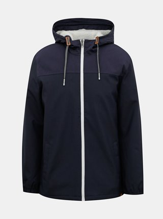 Tmavomodrá zimná vetruvzdorná bunda ONLY & SONS Emil