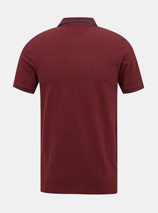 Vínové polo tričko Jack & Jones Shaker