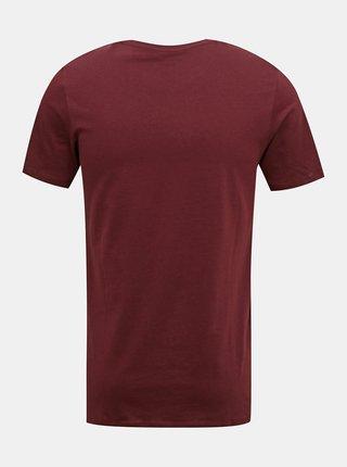 Vínové tričko s potiskem Jack & Jones Shaker
