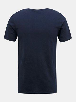 Tmavě modré tričko s potiskem Jack & Jones Shaker