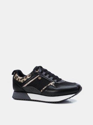 Černé dámské vzorované tenisky Xti