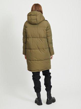 Khaki prošívaný kabát .OBJECT Zhanna