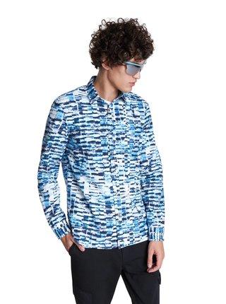 Desigual modro-biela pánska košeľa Cam Adel