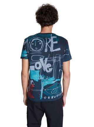 Desigual modré pánske tričko TS Ian