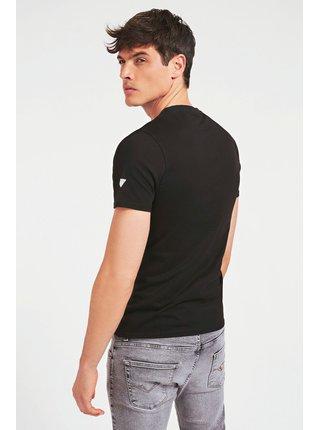 Guess čierne pánske tričko Printed Pocket