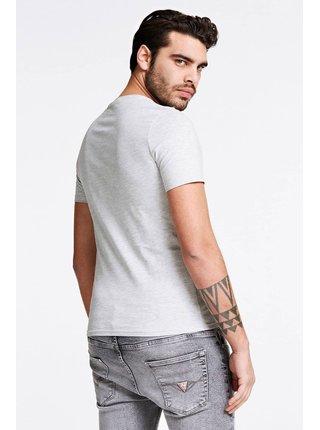 Guess sivé pánske tričko Triangle Logo