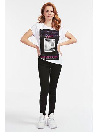 Guess biele tričko Front Logo T-shirt s potlačou
