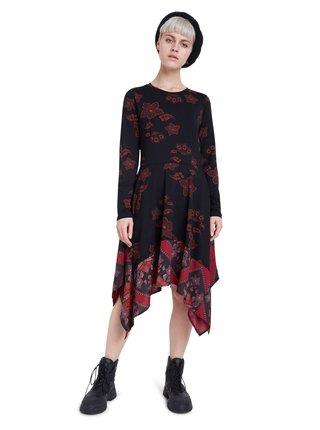 Desigual čierne asymetrické šaty Vest Chicago