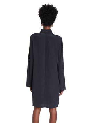 Desigual černé šaty Vest Memory s rolákem