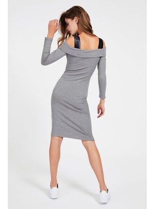 Guess šedé šaty Abito Costine