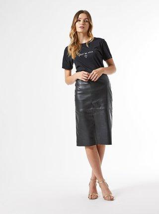 Černá pouzdrová koženková sukně Dorothy Perkins
