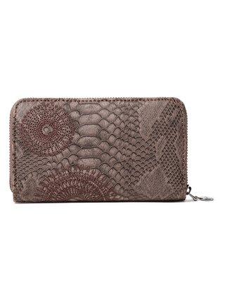 Desigual sivé peňaženka Mone Criseida Mini Zip