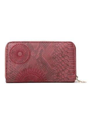 Desigual vínové/bordové peňaženka Mone Criseida Mini Zip