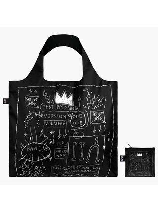 Loqi skládací eko taška Jean-Michel Basquiat Crown