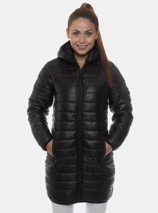 Černý dámský prošívaný kabát SAM 73 Jacintha