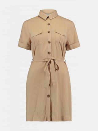 Béžové košeľové šaty Haily´s
