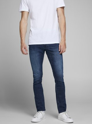 Modré slim fit džíny Jack & Jones Glenn