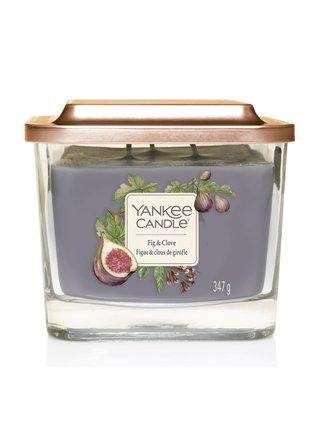 Yankee Candle vonná sviečka Elevation Fig & Clove hranatá stredná s 3 knôtmi