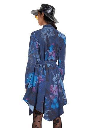 Desigual modré košilové šaty Vest Florencia